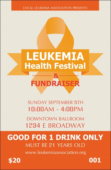 Leukemia Drink Ticket