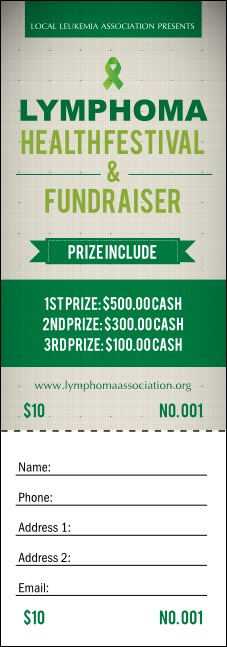 Lymphoma Raffle Ticket