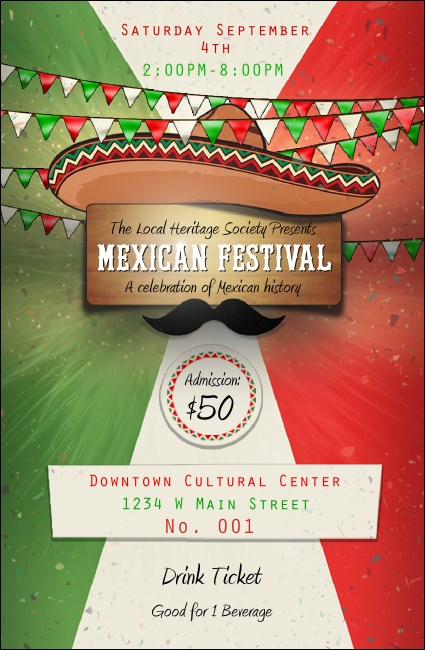 Mexican Fiesta Drink Ticket