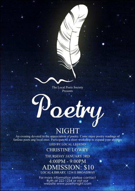 Poetry Quill Postcard