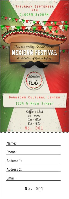 Mexican Fiesta Raffle Ticket