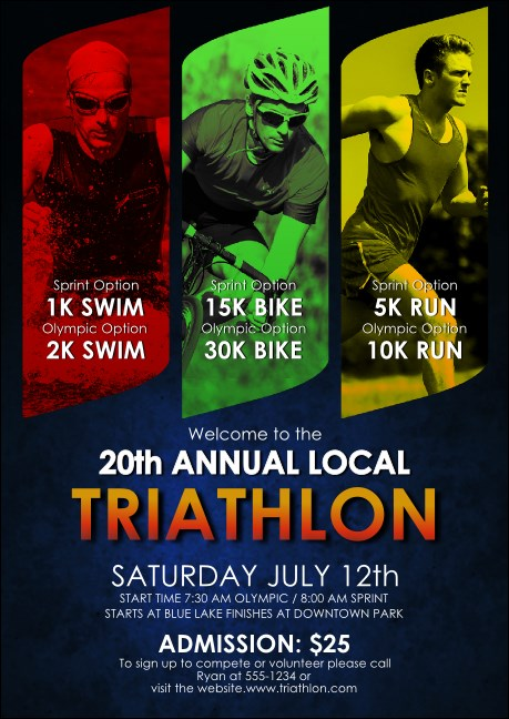 Triathlon Postcard