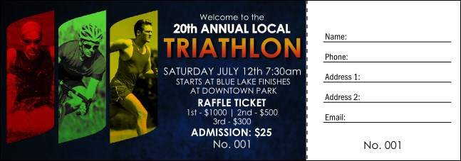 Triathlon Raffle Ticket
