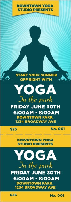Yoga Meditation Event Ticket Product Front