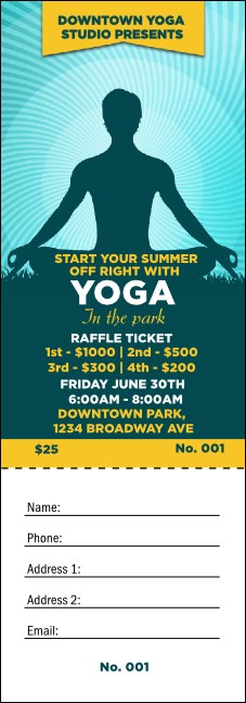 Yoga Meditation Raffle Ticket