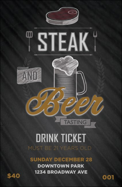 Steak & Beer Drink Ticket Product Front