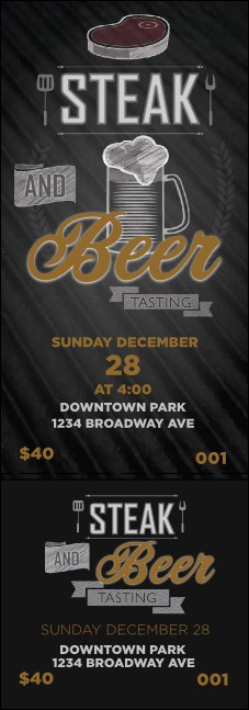 Steak & Beer Event Ticket