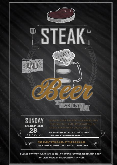 Steak & Beer Postcard