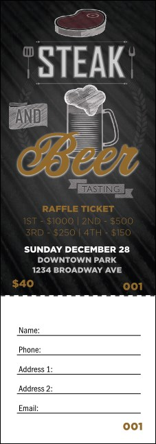 Steak & Beer Raffle Ticket