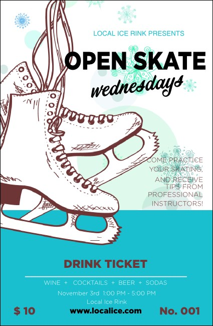 Ice Skating Drink Ticket