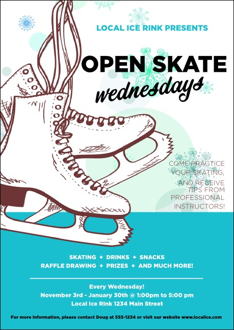 Ice Skating Postcard