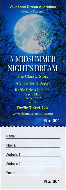 Midsummer Night's Dream Raffle Ticket