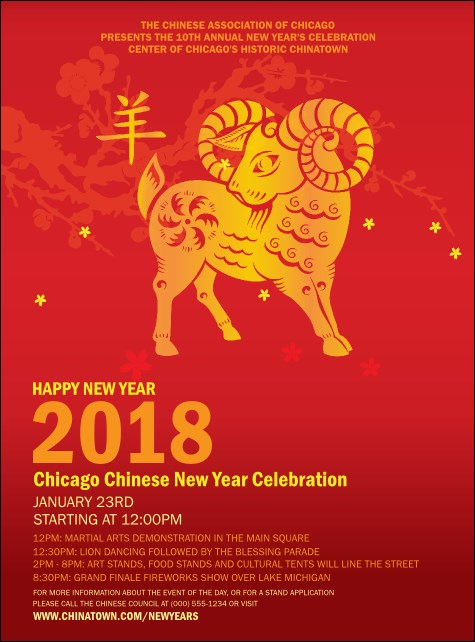 Chinese New Year Goat Flyer