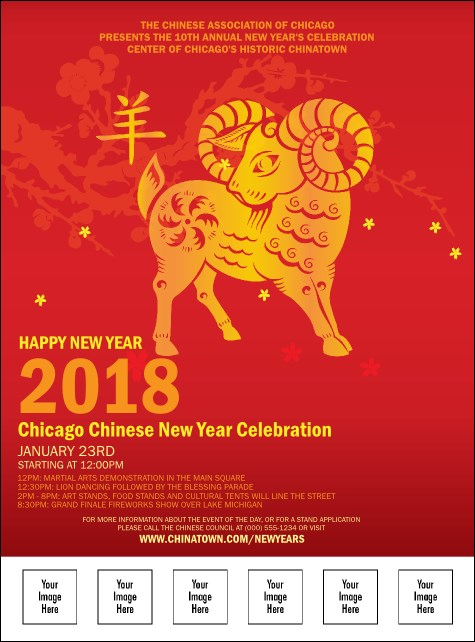 Chinese New Year Goat Logo Flyer