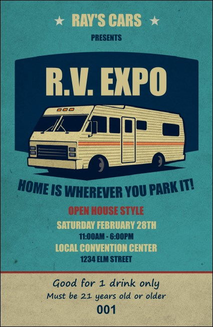 RV Expo Drink Ticket