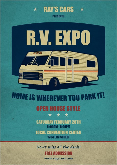 RV Expo Postcard
