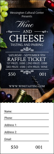 Vineyard Raffle Ticket