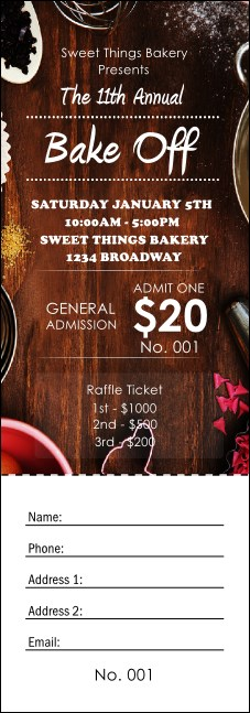 Baking Raffle Ticket