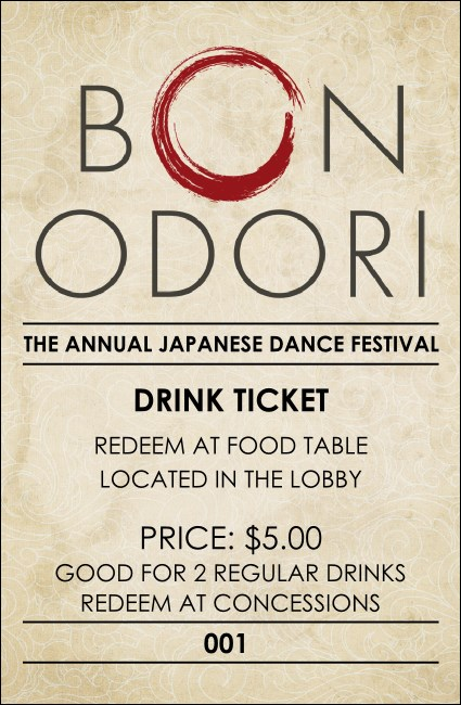 Bon Odori Drink Ticket
