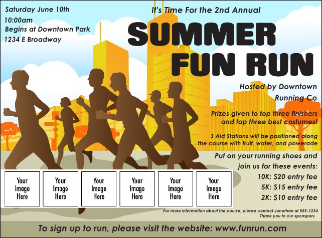 Fun Run Logo Flyer