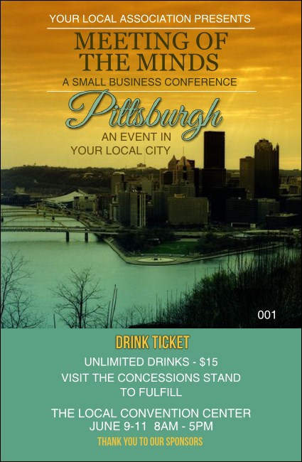 Pittsburgh Drink Ticket