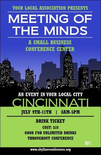 Cincinnati Skyline Drink Ticket