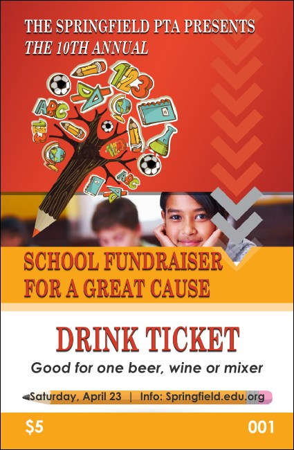 Fundraiser for Education Drink Ticket