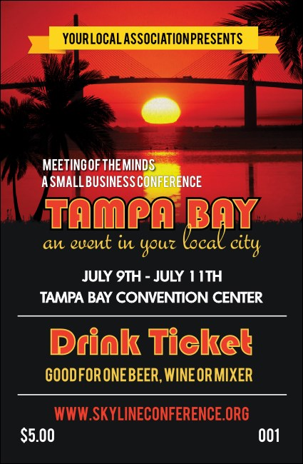 Tampa Bay Drink Ticket