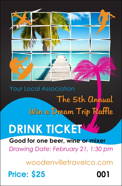 Win a Vacation Drink Ticket Product Front