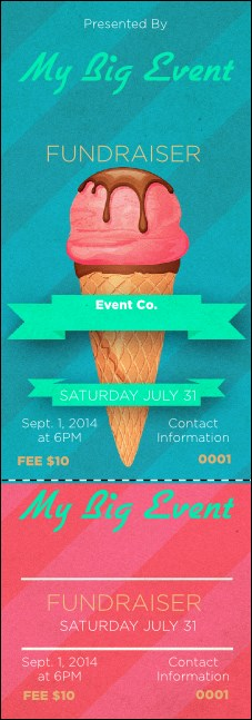 Ice Cream Event Ticket