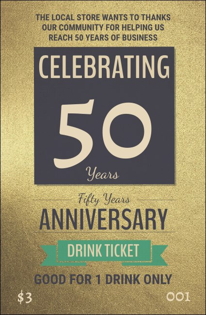 50th Anniversary Drink Ticket