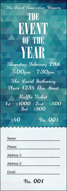 All Purpose Blue Raffle Ticket Product Front