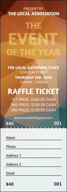 All Purpose Geometric Raffle Ticket