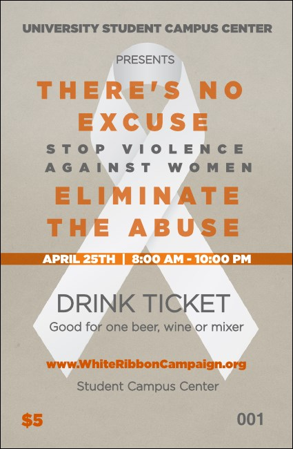 White Ribbon Drink Ticket