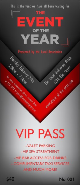Red and Silver VIP Pass
