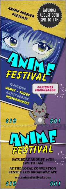 Anime Event Ticket