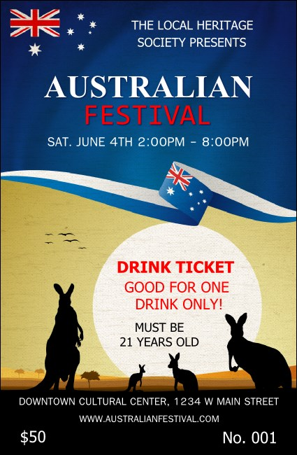 Australia Drink Ticket