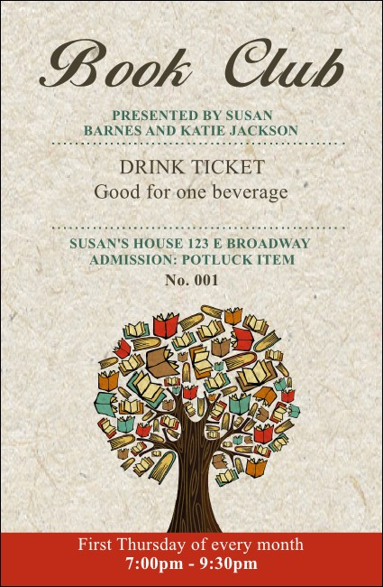 Books Drink Ticket