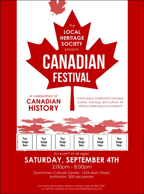 Canada Logo Flyer Product Front