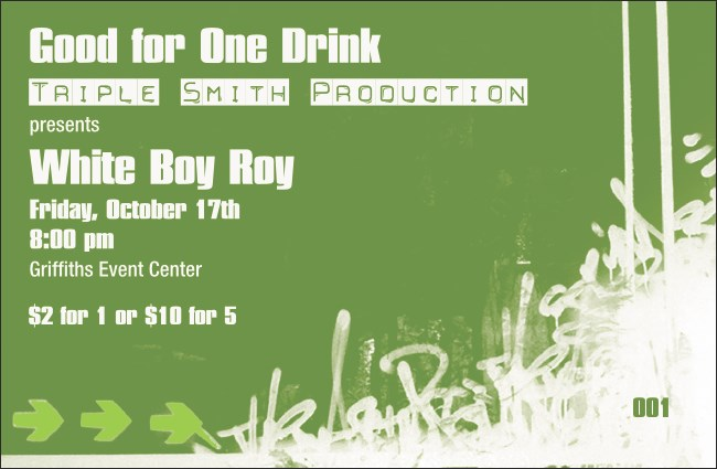 Hip Hop Green Drink Ticket