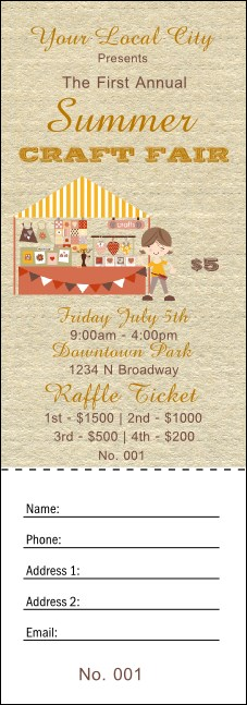 Craft Raffle Ticket