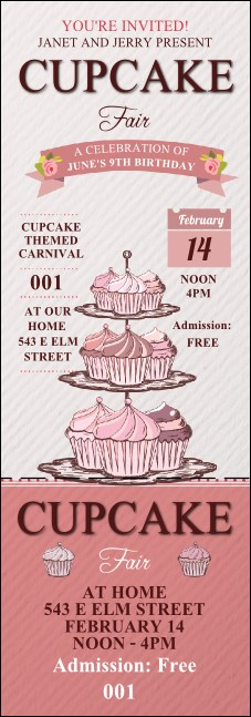 Cupcake Event Ticket