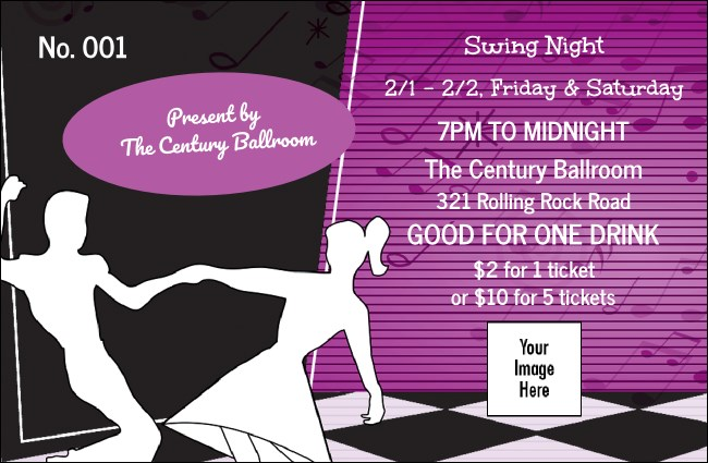 50s Swing Dance Drink Ticket