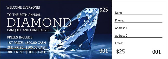 Diamond Raffle Ticket