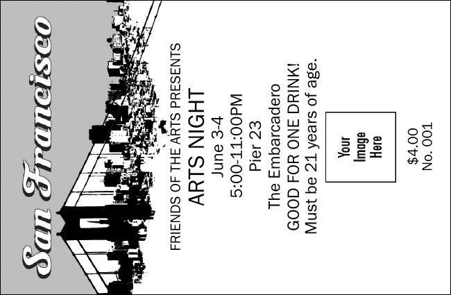 San Francisco Black & White Drink Ticket