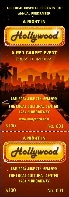 Hollywood Skyline Event Ticket Product Front