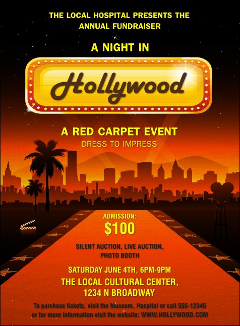 Hollywood Skyline Invitation