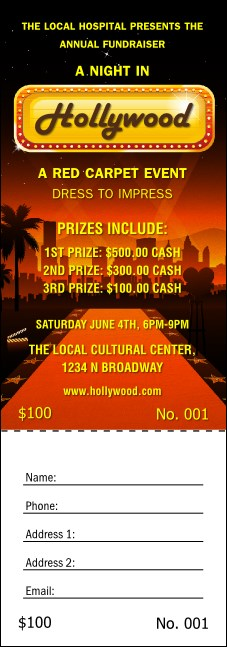 Hollywood Skyline Raffle Ticket