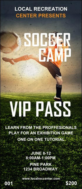 Soccer Camp VIP Pass