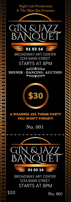 Twenties Event Ticket